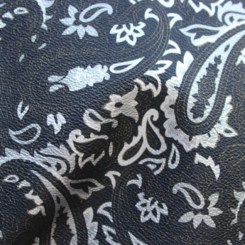 Flower pattern film surface artificial leather for bag