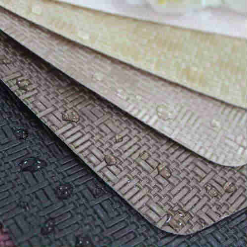 Hot selling weaving pattern leather upholstery fabric for furniture